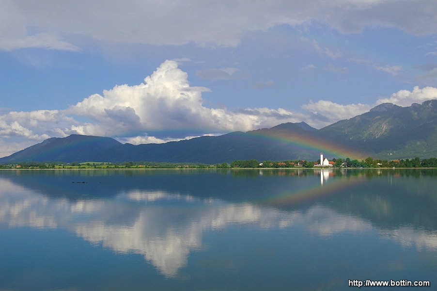 Rainbow on Forggensee Lake