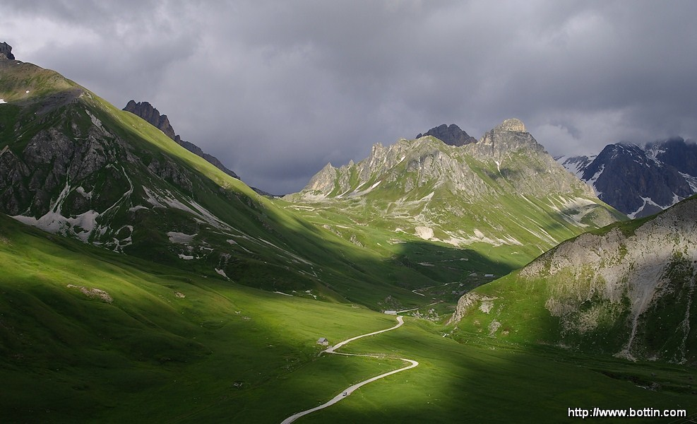 After a storm on Galibier Pass
